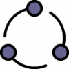 icon of dots and broken lines forming a circle