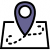 icon of map with pin